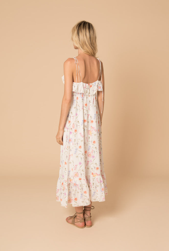 Gold in the Air of Summer Maxi Strap Dress