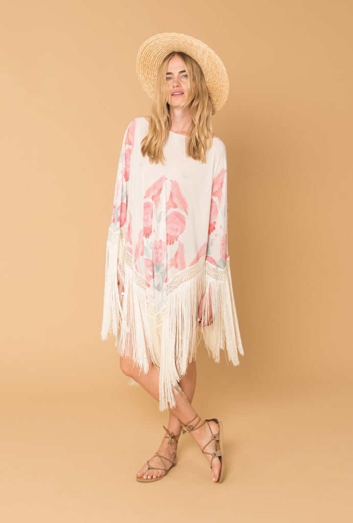 Twilight's Love Flowers Poncho