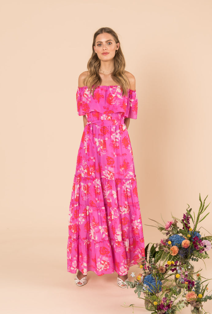 Melrose Sunset Long Gypsy Dress