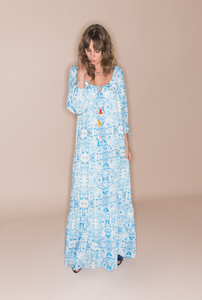 The Midsummer's Sky 70s Dress