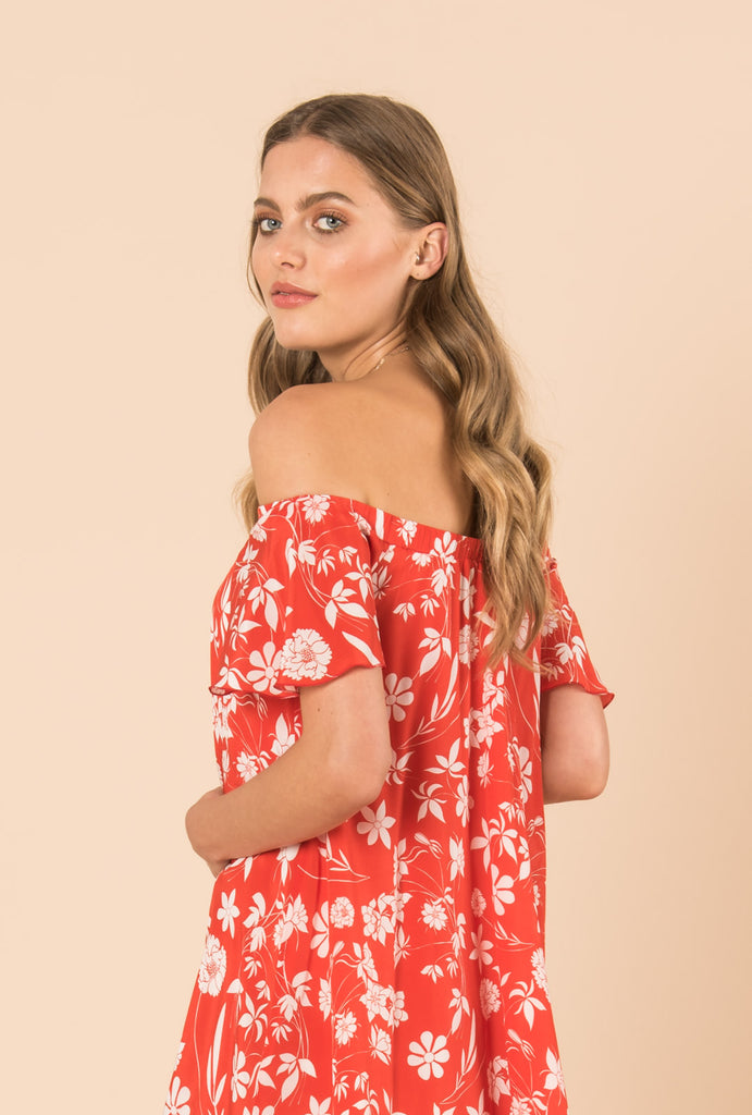 Farah Off Shoulder A Line Dress
