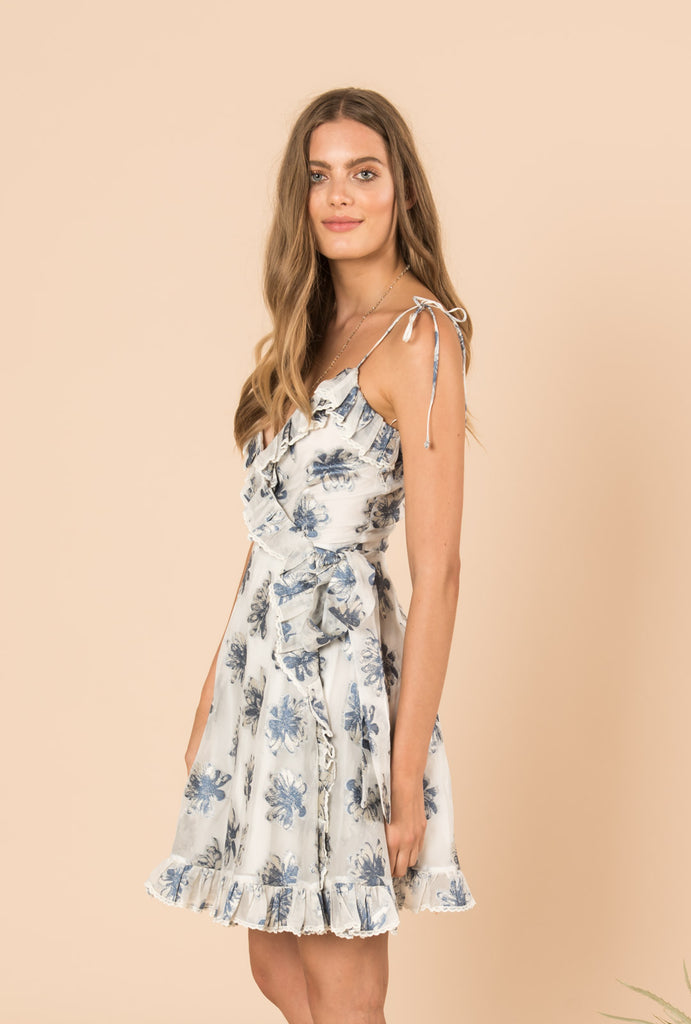 In The Hills Short Strap Wrap Dress