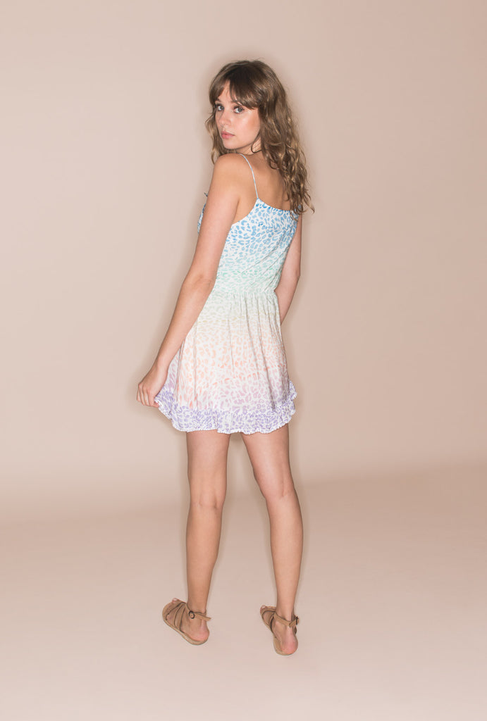 The Rainbow In The Sky Short Strap Dress