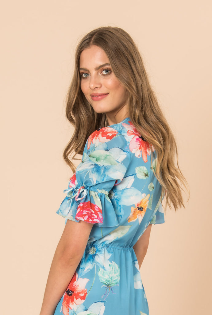 In Bloom Button Dress