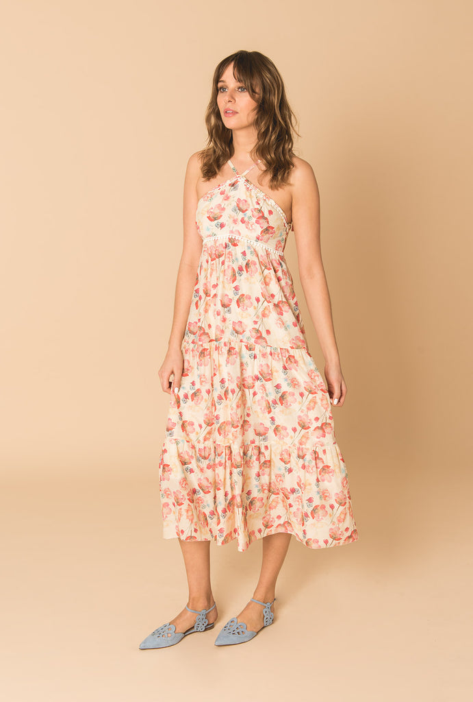 Poppy In Love Tiered Dress with V Straps