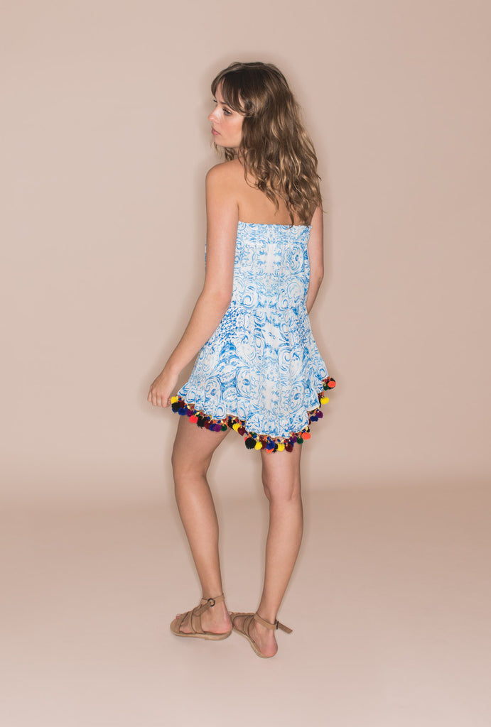 The Midsummer's Sky Short Dress