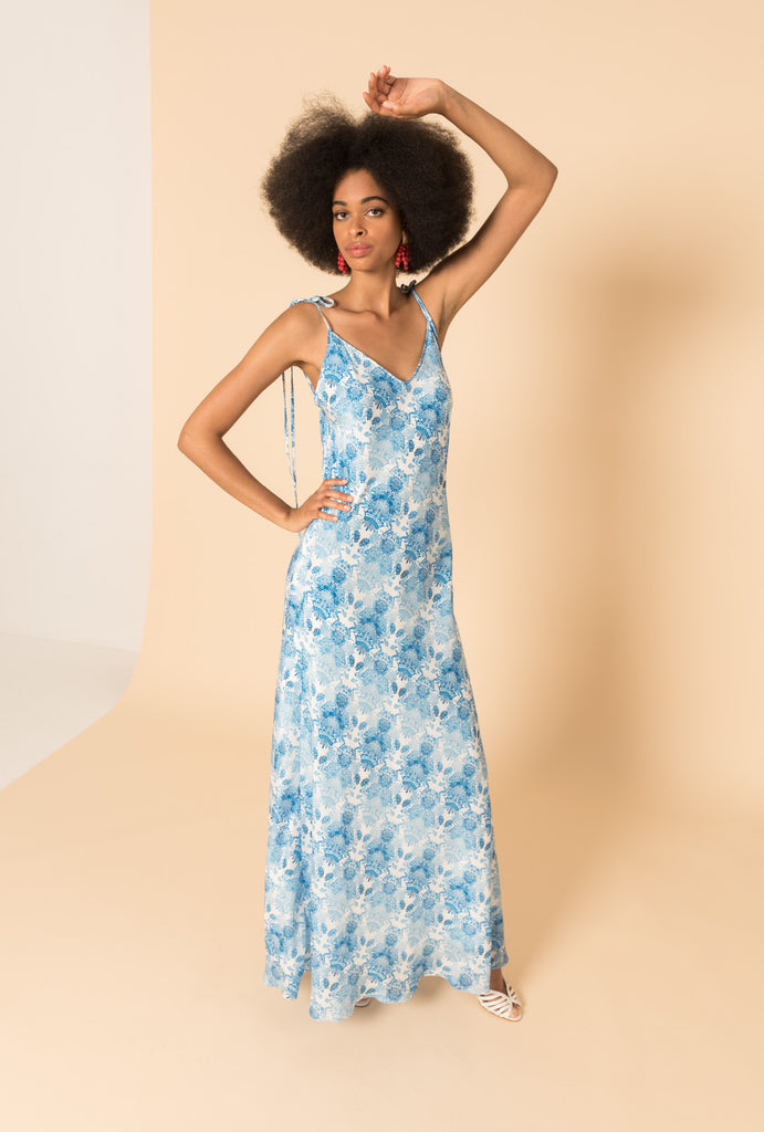 Kalua Blue Bias Dress