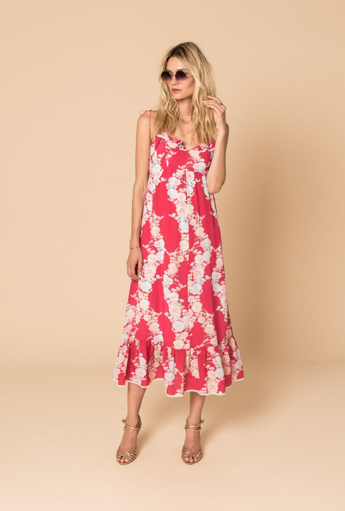 Heartbeats Strap Maxi Dress