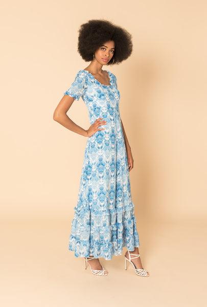 Kalua Blue 20s Long Dress