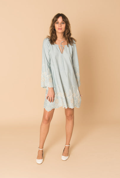 Gypset Blue A Line Dress