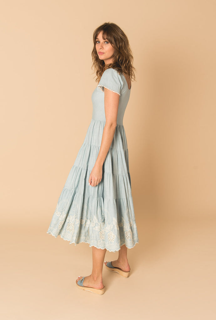 Gypset Blue Romantic Dress