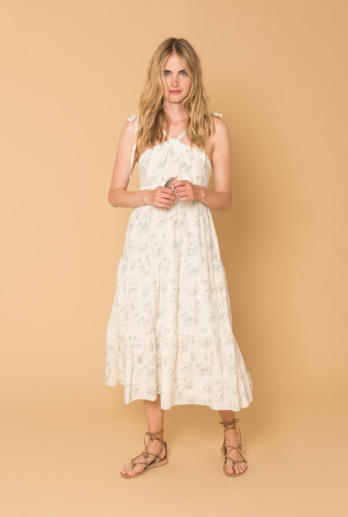 Romance in the Wind Dress with V Straps