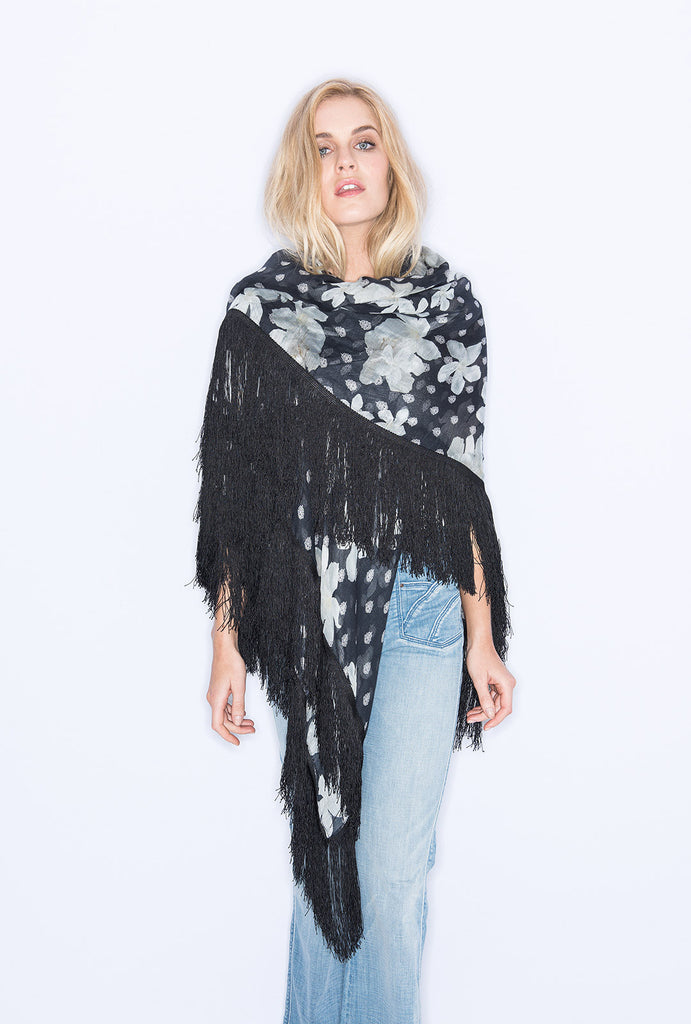 Long Hot Summer Night Fringed Scarf