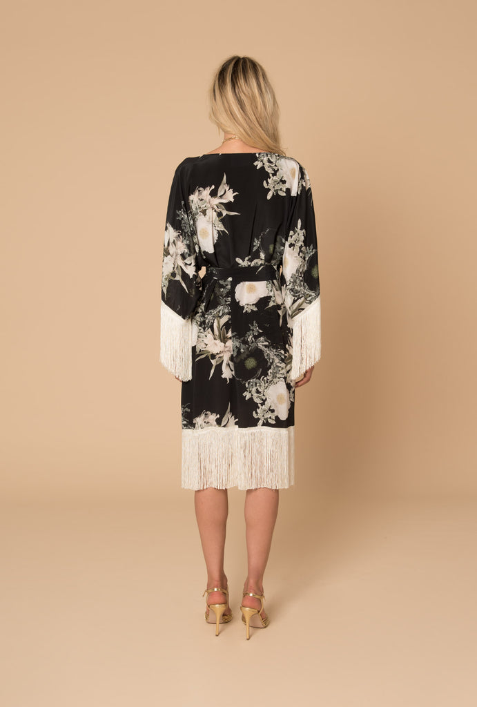 In the Still of the Night Fringed Kimono