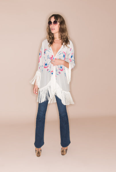Flower Child Fringed Kimono