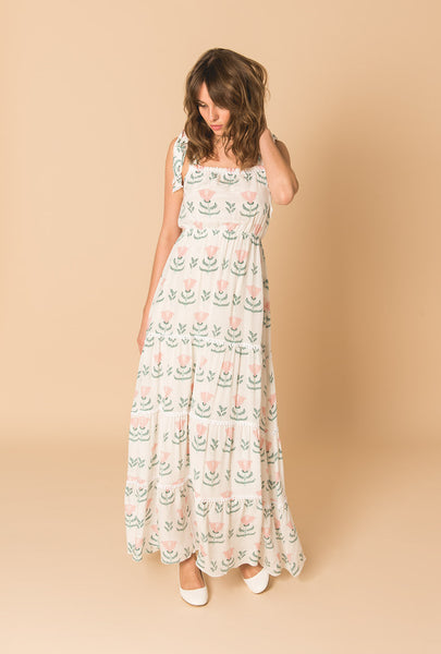 Graceful Beauty Romantic Tiered Dress