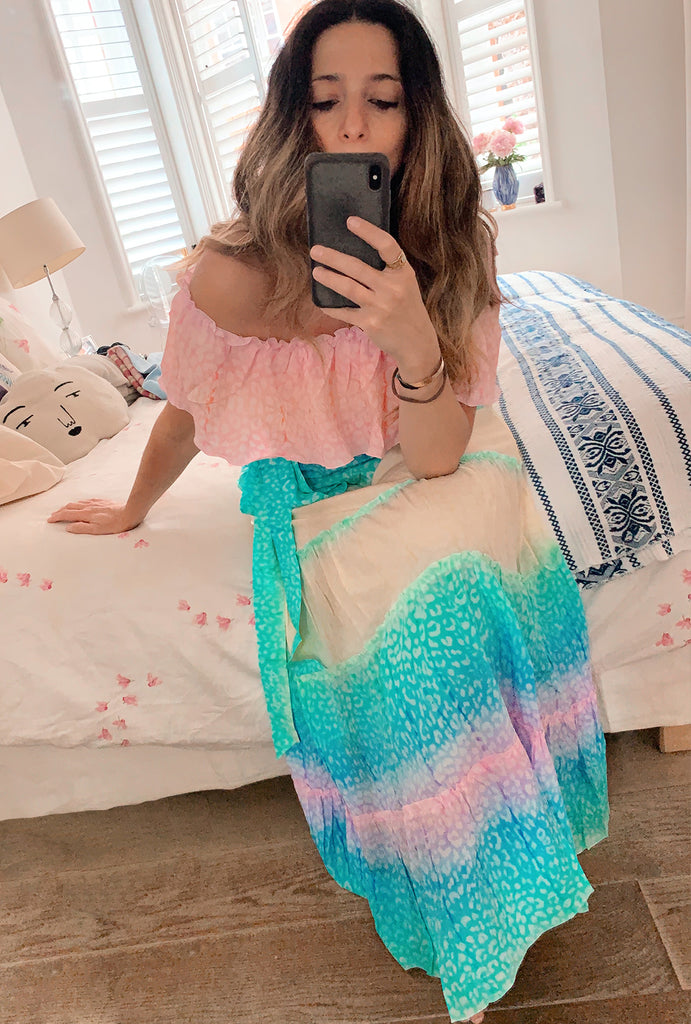 Rainbow Long Gypsy Dress