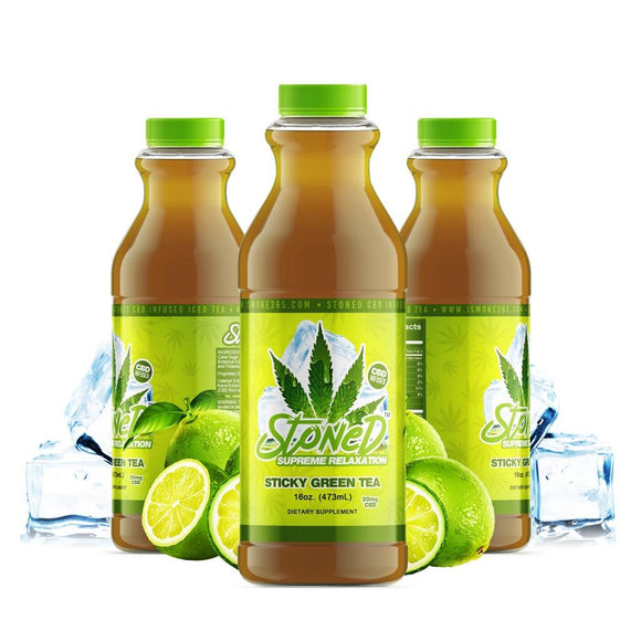 Stoned CBD Drink - Sticky Green Tea 16oz