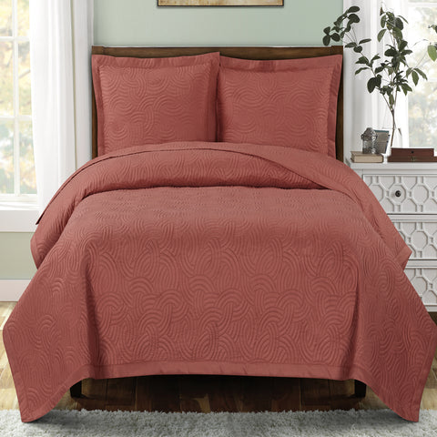 King/Calking CORAL Emerson Oversize Coverlet/Bedspread Set