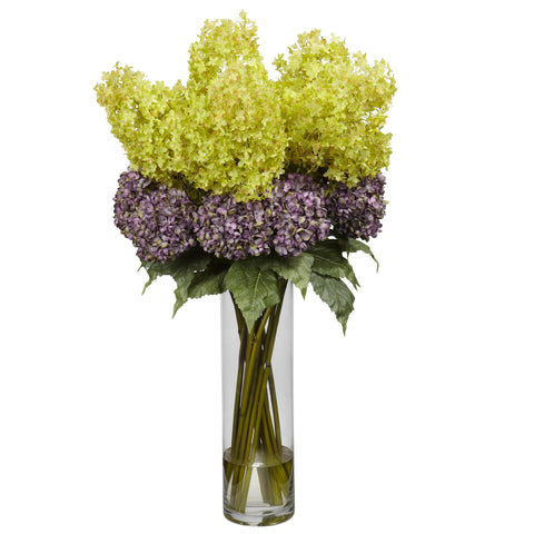 Giant Mixed Hydrangea Silk Flower Arrangement