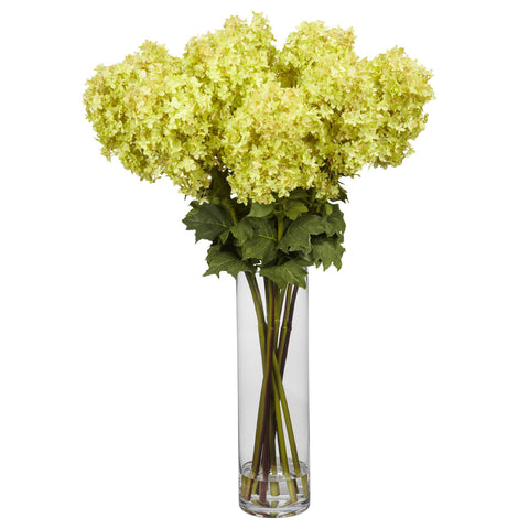 Yellow Giant Hydrangea Silk Flower Arrangement