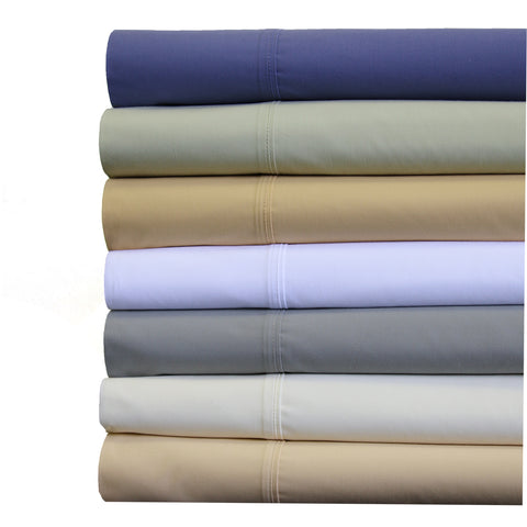 "Split king PERIWINKLE Abripedic Crispy Soft 22"" Super Deep Pockets Percale Sheet set"