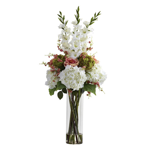 White Giant Mixed Floral Arrangement