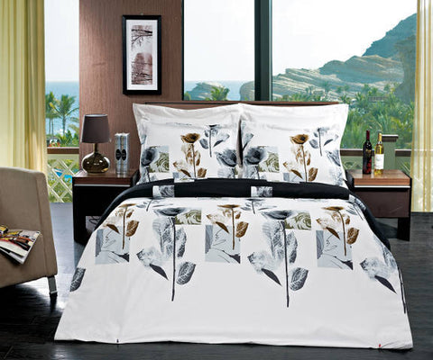 Hanna Combed Cotton 3pc Duvet Cover Set