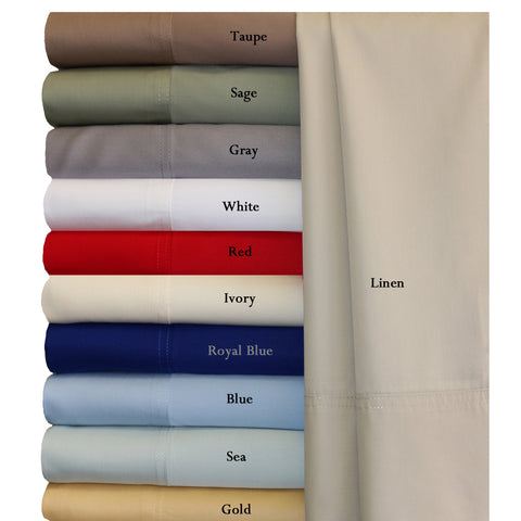 Split king CORAL Super Soft 100% Viscose from Bamboo Sheet Sets