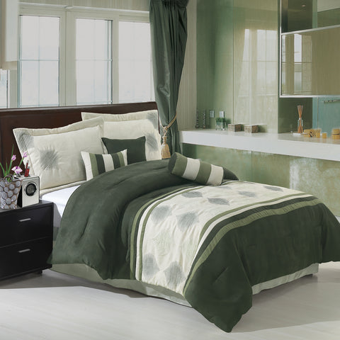King SAGE 11PC Grace Micro Suede Bedding Set