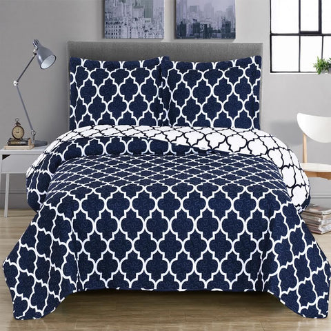 King/Calking NAVY Meridian Oversize Coverlet Set