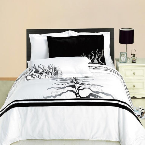 King/Calking Huntington 3PC Printed Combed cotton Duvet Cover Set