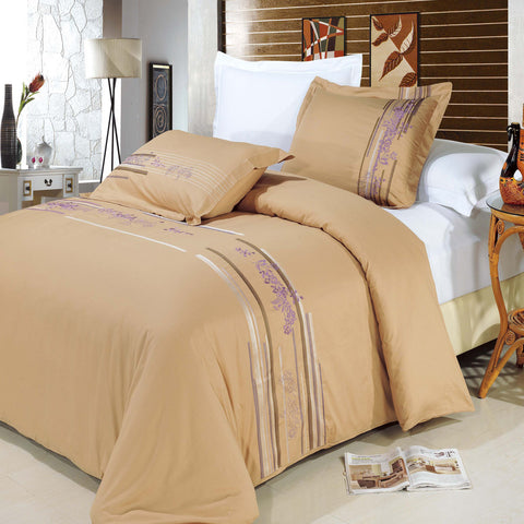 King/Calking Cecilia Embroidered 3-Piece Duvet cover Set