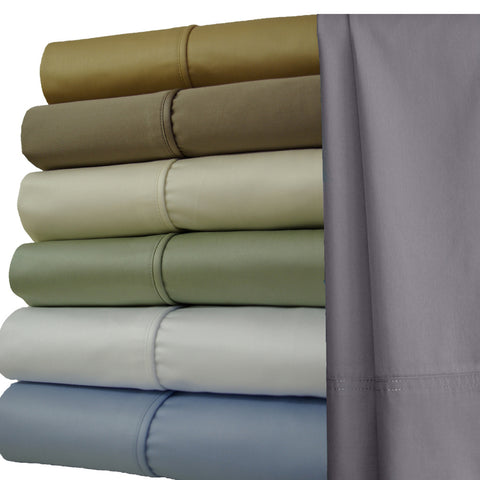 Split King GRAY 1000 Thread count Solid 100% Combed cotton Sheet Sets