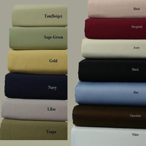 King/Calking BLACK Attached Waterbed Sheet Set 600 Thread count Combed cotton