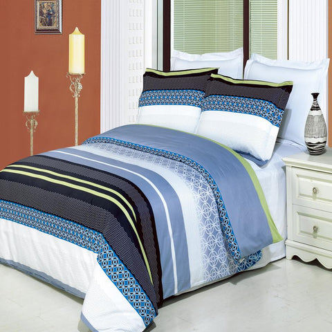 California king Jasmine 8PC Printed Combed cotton Bed in a bag