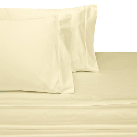 California king IVORY Wrinkle-resistant 300TC Solid 100% Combed Cotton Linens