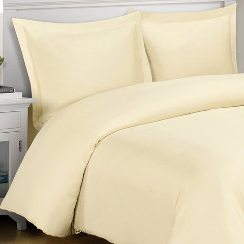 King/Calking IVORY 3PC 100% Viscose from Bamboo Duvet Covers Sets