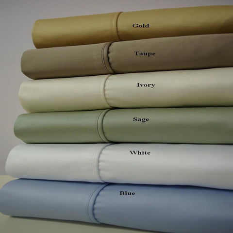 California King LINEN Un Attached Waterbed 1000 Thread count Solid Sheets