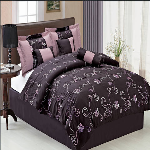 King PURPLE Covington 11-Piece Bed in a Bag