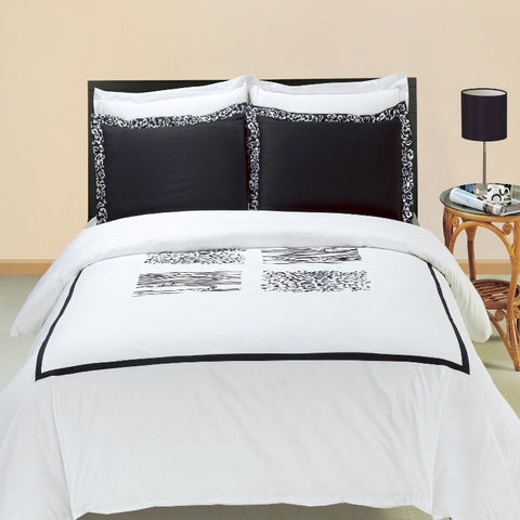 King/Calking Burbank Embroidered 3-Piece Duvet cover Set