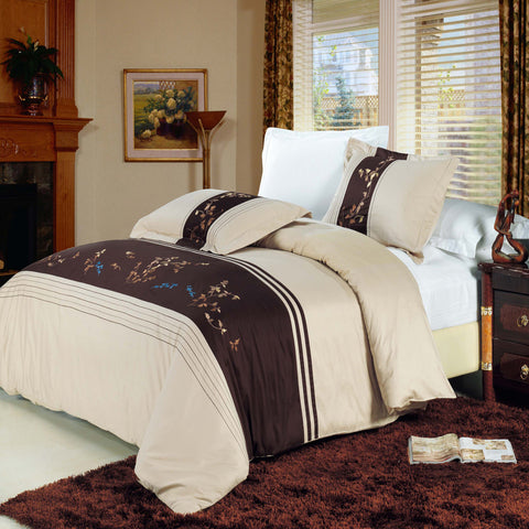 King/Calking Celeste Embroidered 3-Piece Duvet cover Set