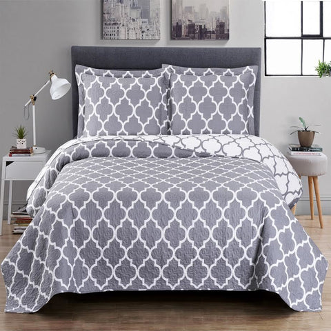 King/Calking GRAY Meridian Oversize Coverlet Set