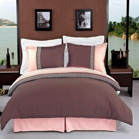 King/Calking Taupe/Beige Embroidered 3-Piece Duvet cover Set