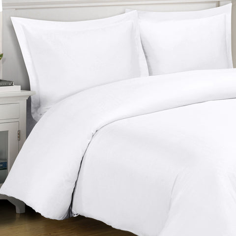 King/Calking WHITE 4PC 100% Viscose from Bamboo Comforter set
