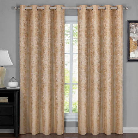 GOLD 54x108 100% Blackout Curtain Bali - Wallpaper Abstrak Theme (Set of 2)