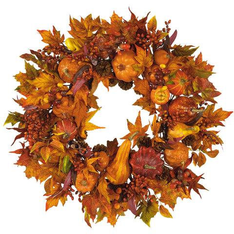 Pumpkin Wreath 28""