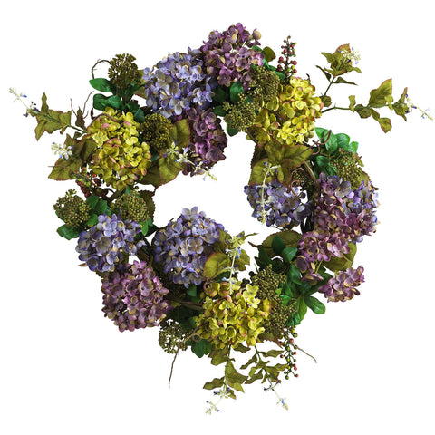 24 in Mixed Hydrangea Wreath