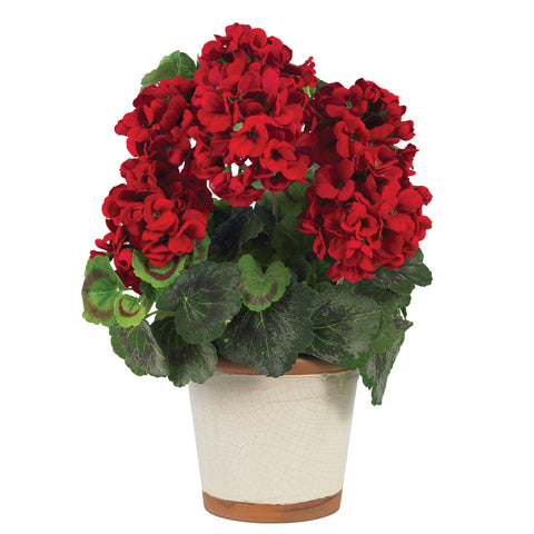 Red Geranium Silk Plant