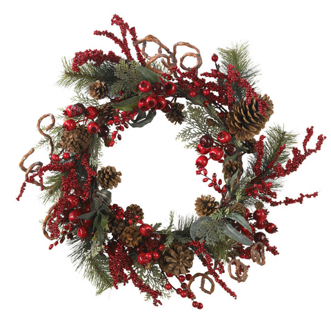 "24"" Assorted Berry Wreath"